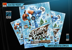 Winter Bash Flyer Template (AndyDreamm) Tags: christmas winter girls party white snow cold sexy ice club season dj deluxe nye nightclub christmasparty vip snowfall psd whiteparty luxury template winterparty monkeybox winternights winterbash psdflyer winterpartyflyer
