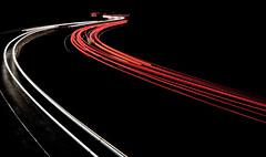 Night traffic (xavier.maumon) Tags: auto road street travel light abstract motion blur bus car night speed dark way drive movement twilight highway automobile traffic dusk transport fast rush transportation freeway vehicle curve