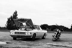 propped (Burnt Out Chevrolet) Tags: auto new shadow bw white black classic car bike breakfast truck honda bay cool machine 15 retro ute motorbike zealand nz 70s vehicle 1978 february feb 1970s 78 napier bnw holden kingswood 2015 hawkes petrolheads