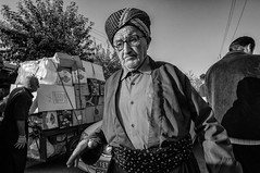 Street portrait (Saman A. Ali) Tags: streetphotography street blackwhite people portrait man glasses blackandwhite monochrome outdoor nikon nikond300s