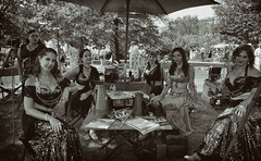 Gatsby on the Lawn, September 17, 2016 - bw (Sahara Dance) Tags: gatsbyparty rachelkaybrookmire gretchen kee alanqa laurakelch