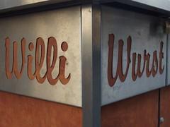 Willi Wurst (mkorsakov) Tags: dortmund city innenstadt schild sign typo frittenbude wurst willi silber silver braun brown ecke