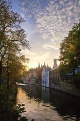 Steenhouwersdijk (VISITFLANDERS) Tags: groenerei halletoren rei water visitflanders city romantic autumn