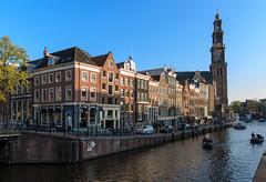 Westerkerk, Amsterdam (Vicente Navarro) Tags: amsterdam netherlands church tower canal westerkerk