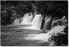 Slow Flow at Krka National Park (oar_square) Tags: krkanationalpark dalmatia croatia waterfalls landscape nature blackandwhite monochrome bigfalls ibenikknincounty krkariver traveldestination water skradinskibuk