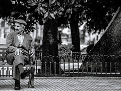 in black and white (seserjio) Tags: blackandwhite bw white old elderly people puglia cegliemessapica italy gente