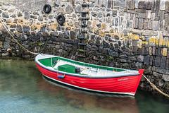 Girl Lesley (Geoff France) Tags: portsoy harbour boat salmonnettingboat statue wire wirestatue plinth moray moraycoast morayfirth