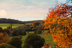 Autumn Scene. (Jay Bees Pics) Tags: autumn edensor stpeters church spire chatsworthestate derbyshire peakdistrict nationalpark england uk 2016