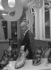Maastricht2210_1 (creativity wave) Tags: portrait mustache window shop reflection black white