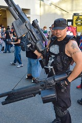 DSC_0279 (Randsom) Tags: nycc 2016 newyorkcomiccon nycomiccon javitscenter october nyc newyorkcity cosplay costume fun comicbooks comicconvention marvelcomics punisher gun rifle mercenary soldier cap tattoo
