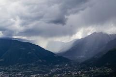 Unwetter (marko-DD) Tags: berge hill mountain wetter wolken sdtirol weather cloud regen rain tal valley