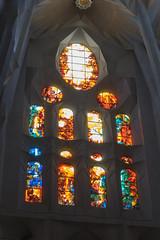NH0A3714s (michael.soukup) Tags: barcelona sagradafamília familia basilica church stainedglass color colorful windows nave interior gaudi churchoftheholyfamily catholicchurch artnouveau architecture neogothic spain catalonia ceiling