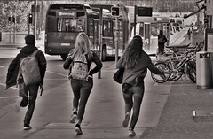 run run run ... (heiko.moser (+ 9.800.000 views )) Tags: people personen publicity person leute menschen monochrom mono man noiretblanc nb nero sw schwarzweiss street strasse streetart streetfotografie schwarzweis streetportrait streetfoto teen teens entdecken einfarbig eyecatch young youngwoman bw blackwihte discover blancoynegro canon candid city heikomoser