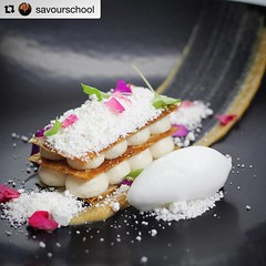 Bachour's Class at @savourschool #Repost @savourschool ・・・ Don't miss @bachour1234 classes at Savour in May 2017. To be the first to hear all the details register for our newsletter via the website in my profile. This is one of Antonio's creations Banana