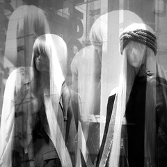 119 (eirelgeuse) Tags: bw blackandwhite mannequins identity overlay abstract glitch
