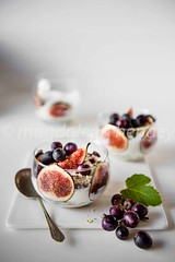 yoghurt fresh figs and grapes (magshendey) Tags: figs foodphoto dessert foodstyling