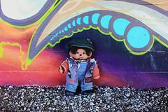 Sid streetart (Monkey Culture) Tags: monchhichi sekiguchi kiki monkey toy stuffedtoy toyphotography miniaturephotography