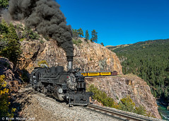 Back on the High Line (kdmadore) Tags: drgw denverriograndewestern durangosilverton dsng durango silverton steamlocomotive steamengine railroad train narrowgauge