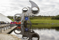 Falkirk Wheel (Kev Gregory (General)) Tags: falkirk wheel rotating boat lift scotland connects forth clyde canal union nearby town central opened 2002reconnecting two canals first time since 1930s millennium link project regenerate reconnect glasgow edinburgh british waterways support funding seven local authorities scottish enterprise network european regional development fund commission planners dramatic 21stcentury landmark structure historic lock flight aqueduct pair locks world united kingdom anderton kev gregory can 7d scenic scenery weather