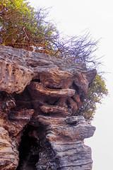 Rock formations at Tanah Lot (pradeep javedar) Tags: canon600d canonphotography bali indonesia balinese travel explore yabbadabbadoo rockformations rocks crags nature landscape detail highcontrast highkey brambles tanahlot temple beach