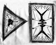 Discussion (Debate?) (Daniel Ari Friedman) Tags: black white contrast debate 2016 president presidential art drawing cartoon abstract triangle rectangle sketch draw