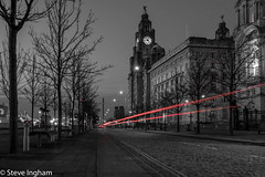 Liverpool, street lights (ingham_steve) Tags: liverpool street slow shutter speed fuji xt2 black white