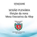 Sess�o Plen�ria - Elei��o da nova Mesa Executiva 17/10/2016