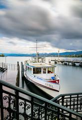 Zurich MS Etzel (aonofri) Tags: zrich schweiz switzerland zurck lake zurich wasser wather blau cloud weiss white boat motorschiff ms