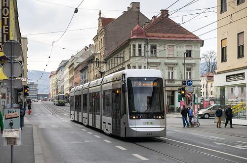 Graz tram: Stadler Variobahn # 222