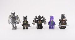 The Many guises of Batman (Hammerstein NWC) Tags: superhero dc thebat batman joker fantasy sci fi steampunk lego brickarms custom minifig minifigures figbarf figs kitbash