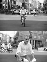 [La Mia Citt][Pedala] (Urca) Tags: milano italia 2016 bicicletta pedalare ciclista ritrattostradale portrait dittico nikondigitale mir bike bicycle biancoenero blackandwhite bn bw 89850