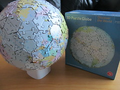 3D Puzzle Globe (pefkosmad) Tags: jigsaw puzzle leisure hobby pastime complete world earth sphere round 3d 212pieces globe