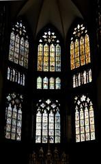 Regensburg-Ratisbona (Alemania). Catedral de San Pedro. Vidrieras de la cabecera (santi abella) Tags: ratisbona regensburg baviera bayern alemania germany vidrieras