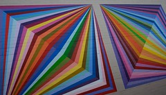 Into the Vortex (EXPLORED) (Katrina Wright) Tags: dsc3693 trompeloeil vortex stripes colours mural painting art wall streetart illusion 3d kristoferdean oksanagaidasheva milanbasic