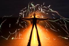 Zoompulling at the WAVE (Waving lights in the dark) Tags: lightpainter sooc shotinoneexposure fireworks firework sonya7 sonyzeiss zoompull zoom zoompulling silhouette backlit backlight wavinglightsinthedark wave