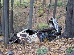 Abandoned wreck, on the Bruce Trail near Fruitland (Sean_Marshall) Tags: hamilton ontario stoneycreek brucetrail niagaraescarpment