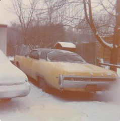 WARMING UP MY 1971 CHRYSLER 300 IN 1979 (richie 59) Tags: ulstercountyny ulstercounty newyorkstate newyork unitedstates autumn townofesopusny townofesopus chryslercorporation stremyny stremy america outside chrysler fall oldphotograph olddays oldpicture oldphoto film photoscan 1970s filmcamera filmphotography dec191979 dec1979 1979 chrysler300 1971chrysler300 1971chrysler 1971300 1970scar americancar uscar 2door twodoor 2doorhardtop twodoorhardtop hardtop automobiles autos automobile auto car motorvehicle vehicle hudsonvalley midhudsonvalley midhudson nystate nys ny usa us richie59 snow trees frontyard yard driveway home backend taillights yellowcar oldcar oldchrysler oldmopar mopar fence woodenfence vinyltop bigcar fullsizecar huge giant