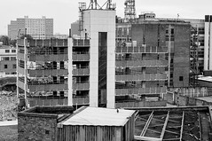 Old City Building : Black and White (Dave-Carroll) Tags: england yorkshire aerial architectural architecture blue building center city cityofculture cityscape davecarrollphotographycouk day downtown europe house housing hull rooftops skyline town travel uk urban view mono black white demolition business financial hullnov2016 panoramic scenicrooftop leeds nikon d5000
