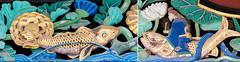 Fishing (campra) Tags: wood sculpture fish japan shrine carving carp shinto kyushu dazaifu tenmangu honden