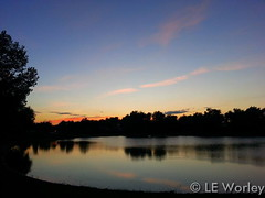 August 10, 2015 - A great looking Thornton sunset. (LE Worley)
