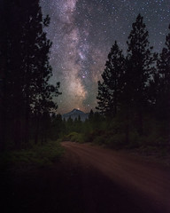 Milky Way over South Sister (Sandra Herber) Tags: night oregon stars astrophotography cascades southsister milkyway willamettenationalforest