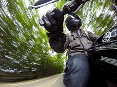 Street Lethal (Ed Leach) Tags: road motion blur bike speed blurry helmet fast hills motorbike riding motorcycle yamaha exmoor shoei 2015 ybr gopro