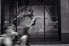 Defy Gravity (Pat Kelleher) Tags: nyc blackandwhite newyork black blancoynegro candid streetphotography defygravity patkelleherphotography fujix100t