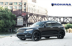 Infiniti FX35 - RC22 Matte Black (3) (Rohana Wheels) Tags: infinity wheels concave luxurycar fx35 rohana luxurywheels rc22 rcseries rohanawheels