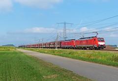 DBS 189 028+072 met kolentrein bij Angeren (Allard Bezoen) Tags: train br siemens db loc bahn trein 028 dbs deutsche 189 schenker 072 betuweroute eloc baureihe angeren