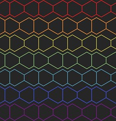 In Between (shonk) Tags: wallpaper abstract illustration design pattern geometry math hexagon polygons mathematica geometricart geometricdesign