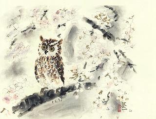 Cherry and scops owl