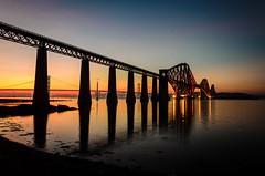 Forth Rail Bridge (jakewchitty) Tags: city bridge sunset beach water train scotland edinburgh south rail scotrail forth queensferry