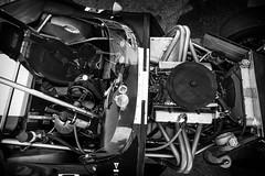Cheetah engine compartment (speedcenter2001) Tags: monochrome car wisconsin race vintage racing historic cheetah roadamerica elkhart motorsports sportscar roadracing elkhartlake roadcourse crosal silverefexpro2