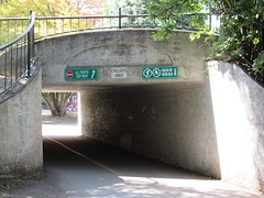 Bicycle tunnel (jamica1) Tags: park canada bicycle vancouver underpass bc columbia stanley british